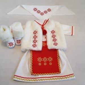 Set hainute traditionale pentru botez fetite